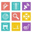 Color icons for Web Design set 39 vector image vector image
