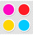Colorful Empty Circle Stickers - Labels Set on vector image