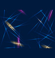 colorful glowing laser beams lines abstract vector image vector image