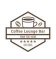 concept of coffee logo brown vector image vector image