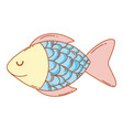 cute fish cartoonn vector image
