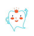 cute healthy tooth kids cartoon for dental care vector image