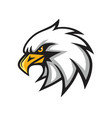 eagle mascot logo sign vector image