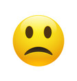 emoji yellow sad face vector image vector image