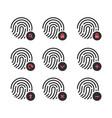 fingerprint scaner iconssymbol for graphic design vector image vector image
