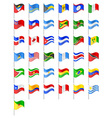 flags North and South Americas countries vector image