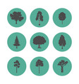 forest trees icons vector image