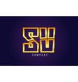 gold golden alphabet letter sv s v logo vector image