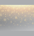 gold snowflakes with sparkles realistic falling vector image vector image