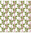green branches seamless background pattern vector image