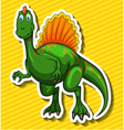 Green dinosaur on yellow background vector image vector image