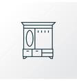 hall cupboard icon line symbol premium quality vector image