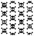 halloween cartoon skull seamless pattern vector image vector image