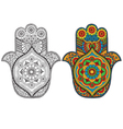 Hamsa decorated with patterns vector image