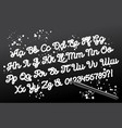 hand drawn brushpen calligraphic alphabet vector image