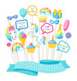 happy birthday photo booth props fantasy items vector image
