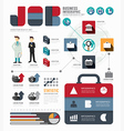 infographic businessworld job template vector image vector image