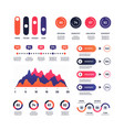infographic multipurpose economic charts vector image