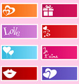 Love labels vector image vector image