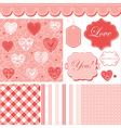 Lovely set vector image