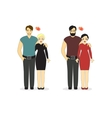 Loving Couples Isolated on a white background vector image