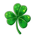 lucky clover isolated on white background vector image