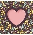 meadow flowers heart vector image