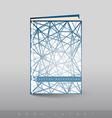 Modern abstract brochure as book vector image