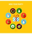 New Year Party Infographic vector image