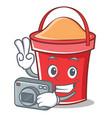 photography bucket character cartoon style vector image vector image