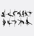 pole dancer female silhouettes vector image