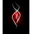 Red wave in dark space dynamic energy background vector image vector image