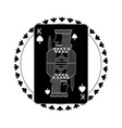 round shape of playing card king character poker vector image vector image