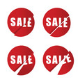 sale icon in red color set vector image vector image