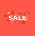 sale text concept modern flat style vector image
