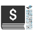 Sales Book Flat Icon With Bonus vector image