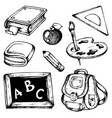 school drawings collection 1 vector image vector image