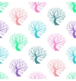 Seamless pattern colorful tree vector image vector image