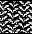 seamless pattern white soaring bats on a black vector image vector image