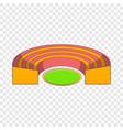 semicircular stadium icon cartoon style vector image vector image