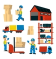 Set Of With Storehouse Workers vector image vector image
