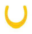 shiny golden horseshoe flat icon vector image vector image