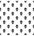 skull pattern seamless vector image