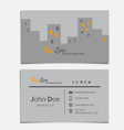 Sky Line Themed Business Card Template vector image vector image