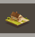 suburban poor family house with wooden porch vector image vector image