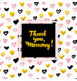 thank you mommy lettering concept vector image vector image