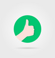 thumbs up like sure round logo vector image