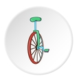 Unicycle icon cartoon style vector image vector image
