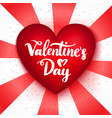 valentines day red heart postcard vector image vector image