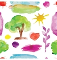 Watercolor nature set for your design vector image vector image